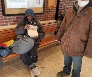 Street Outreach team member Ray at a local train station
