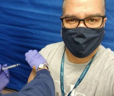 Mario Avila vaccinated