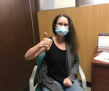 Valerie Vedral vaccinated