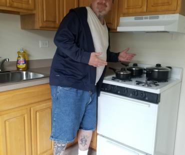 Danny in kitchen